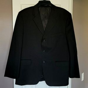 Black Pin Stripped Suit